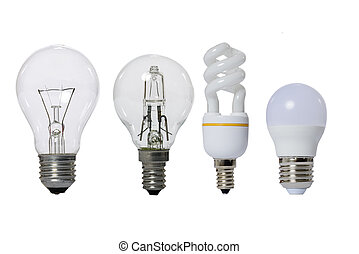 Group of lamps on a white background. - Group of lamps on a...
