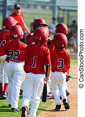 Group of little league baseball players - A team of little...
