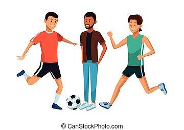 group of man avatars