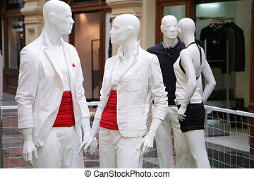 group of mannequins