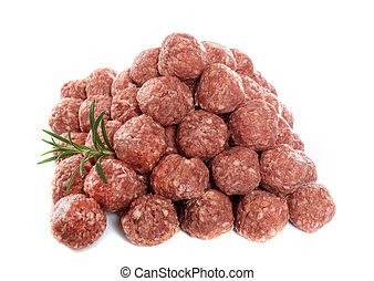 group of meatball in front of white background