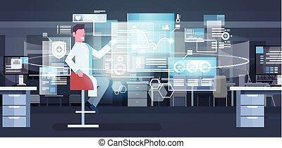 Group Of Medical Doctors Using Digital Screen Modern Medicine Technology Concept