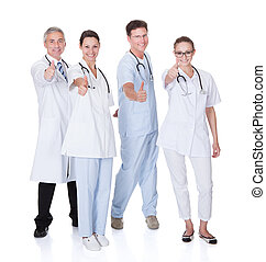 Group of medical professionals - Group of four medical...