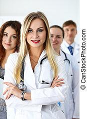Group of medics proudly posing