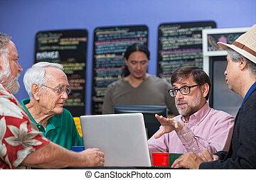 Group of Men in Conversation