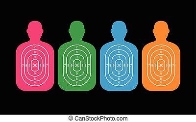 group of men paper targets