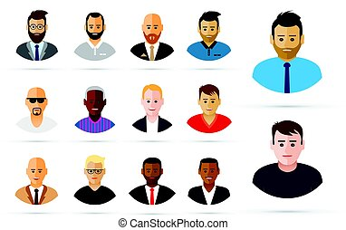 Group of men profiles