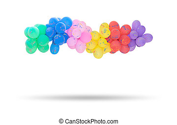 Group of multi colored balloons for decoration in celebrations