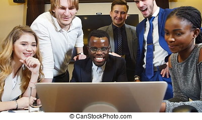 Group Of Multi-Ethnic Startup Entrepreneur Smiling and...