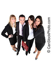 Group of office workers, studio shot