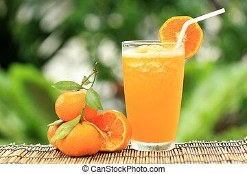 Group of Orange and orange Smoothie