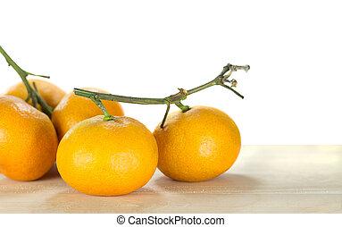 group of orange isolated on white background