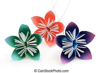 Group of Origami Flowers