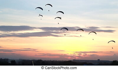 Group of parachute or paramotor