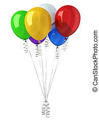 Group of party multicolor balloons.