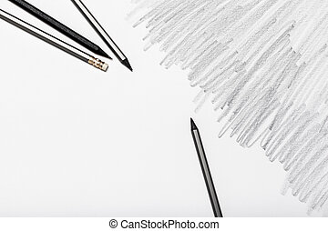 Group of pencils isolated on white background