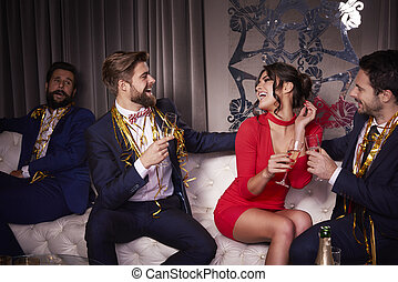 Group of people at the party