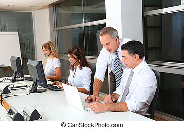group of people attending business training
