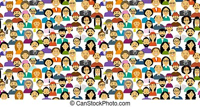 Group of people, background for your design