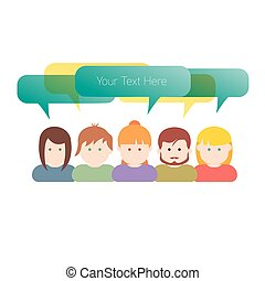 Group of people communication