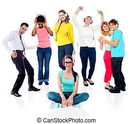 Group of people enjoying music