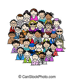 Group of people for your design - This file is EPS10 vector...