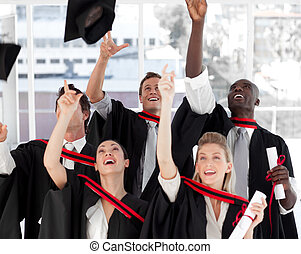 Group of people Graduating from College from different...
