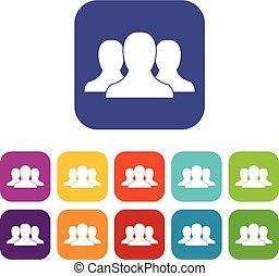 Group of people icons set
