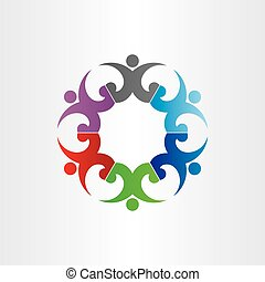 group of people in circle party celebrating