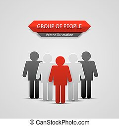 Group of people leader. Vector Illustration background