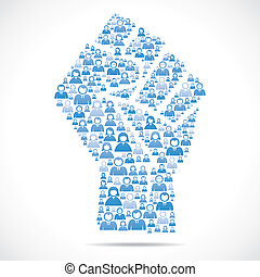 group of people make unity hand