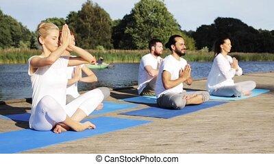 yoga class ashtanga yoga garbha pindasana funny