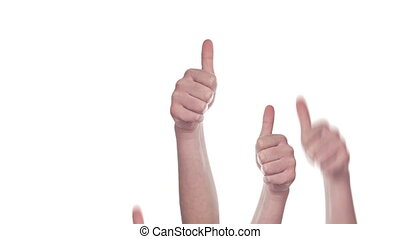 Group of People showing Thumbs Up