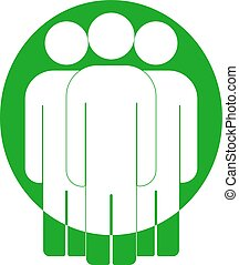 Group of people sign icon. Share symbol. UI website navigation. Social network icons.   friends. Cut Out . Leader . Community . Multiple users silhouette