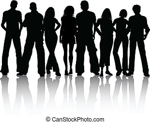 Group of people - Silhouette of a group of people
