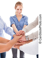 Group Of People Stacking Hand