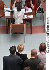group of people - Group of people waiting for job interview
