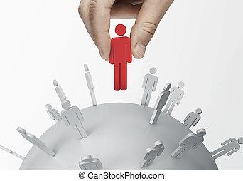 social network - group of people talking in social network