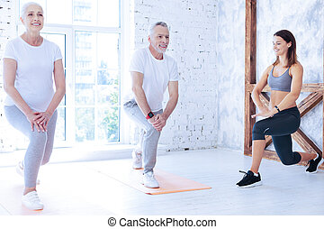 Group of people that visiting fitness