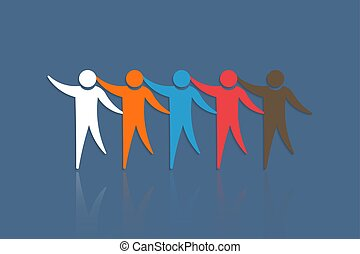 Group of People touching each other. Concept for Teamwork