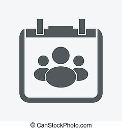 Group of people. Vector icon
