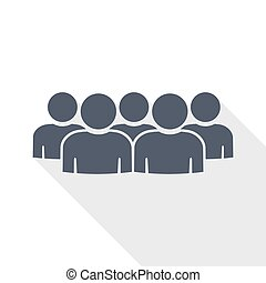 group of people vector icon, team, teamwork concept flat design illustration in eps 10 with empty copy space