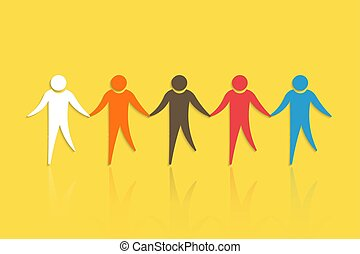 Group of People with holding hands. Concept for Teamwork