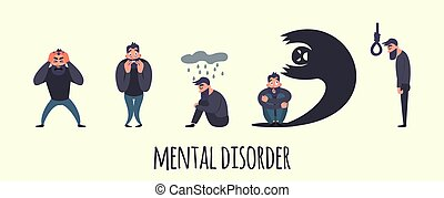 Group of people with psychology or psychiatric problem....