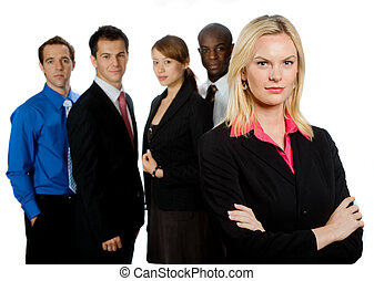 Group of Professionals - An attractive caucasian ...