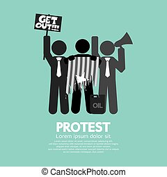 Group Of Protester Graphic Symbol