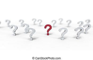 Group of question mark icon isolated on white background. Illustration.