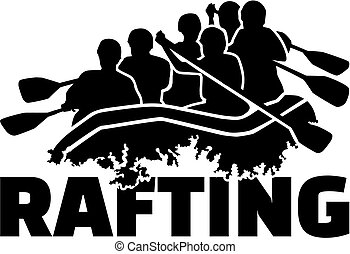 Group of Rafting people