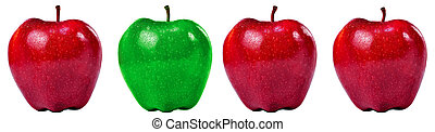 Group of Red and Green Apples