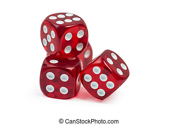 red gambling casino dice isolated